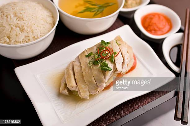 hainanese chicken - hainan island stock pictures, royalty-free photos & images