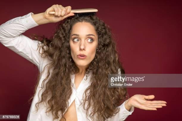 Hair and brush