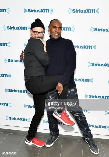 Hair and wig designer Charles LaPointe and costume designer Paul Tazewell visit SiriusXM Studios on March 16 2018 in New York City
