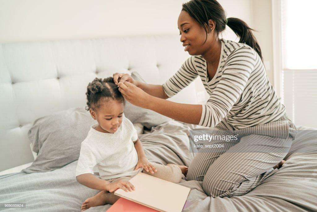 Haarpflege für Kinder : Stock-Foto
