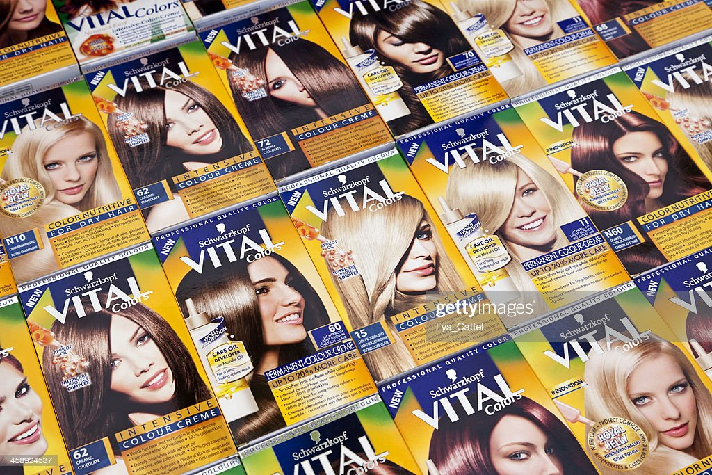 Hair color creme : Stock Photo