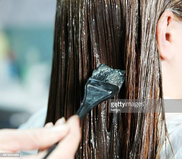 hair coloring - hair colourant stock pictures, royalty-free photos & images