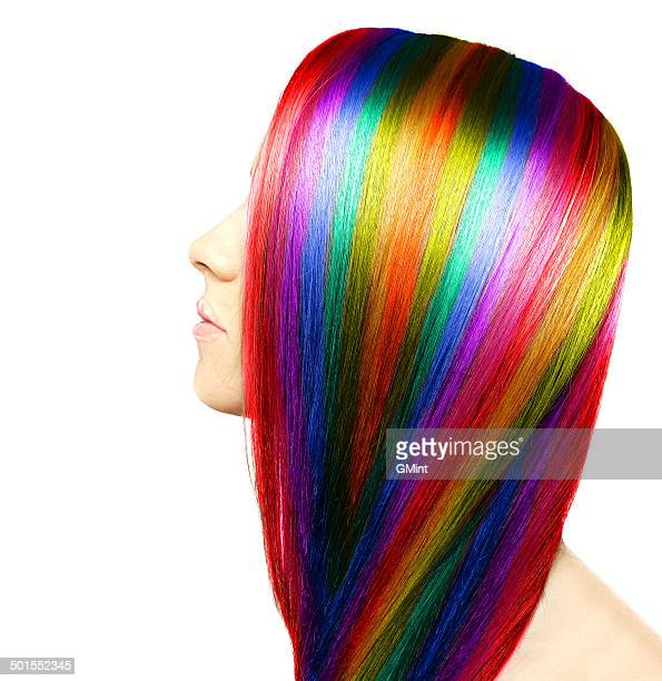 hair colour - highlights hair stock pictures, royalty-free photos & images