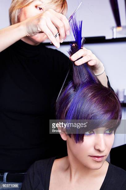 hair cut - highlights hair stock pictures, royalty-free photos & images