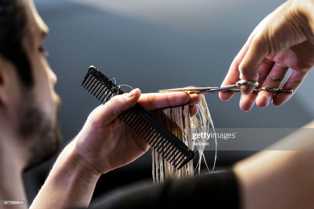 Corte de cabelo : Foto de stock