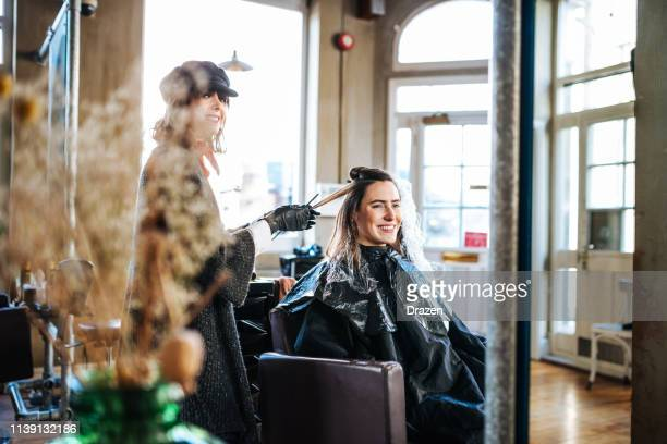 hair dresser, small business - hair salon stock pictures, royalty-free photos & images