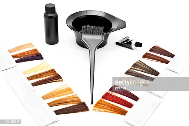 hair dye kit - hair colour stock pictures, royalty-free photos & images