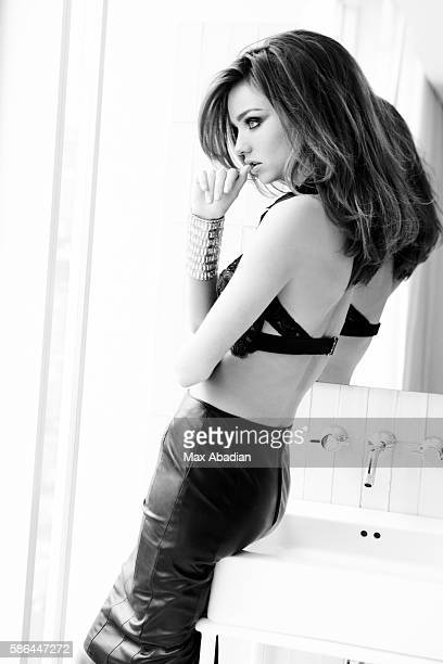 Harry Josh Makeup Jenna Anton Lace bra by Victoria's Secret Leather skirt by Danier Bracelet by Philippe Audibert