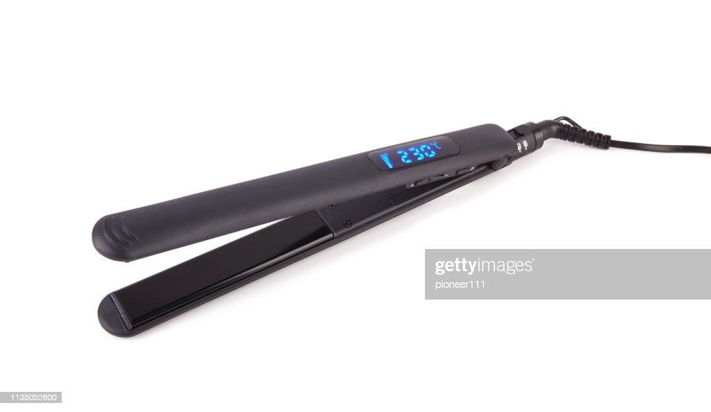 Hair straightener isolated : Stock Photo