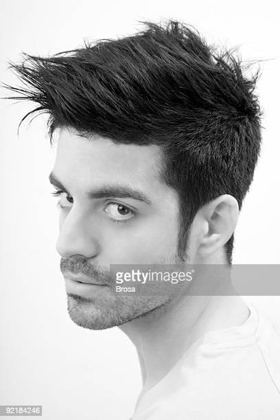 Hair styled man