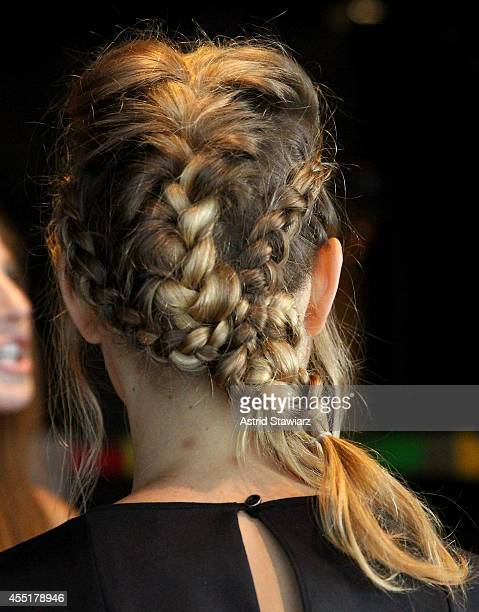 Hair styles at the TRESemme Blogger Event during MercedesBenz Fashion Week Spring 2015 at Landmarc on September 10 2014 in New York City