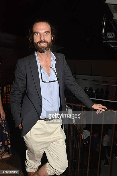 Hair stylist John Nollet attends the 'A L'Impossible Je Suis Tenu' Mathieu Cesar Photo Installation At Espace 17 Rue Commines on June 11 2015 in...