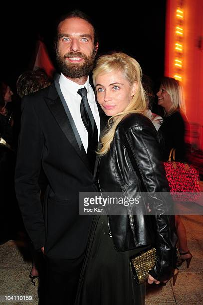 Hair Stylist/ photographer John Nollet and actress Emmanuelle Beart attend the 36th Deauville Film Festival Opening Dinner at the Casino on September...