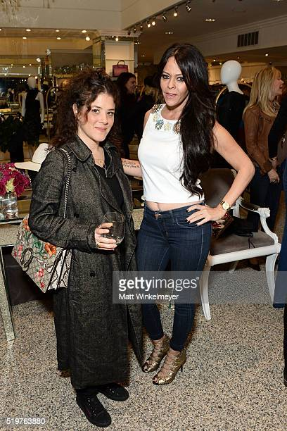Hair stylist Tracy Cunningham and Allison Melnick attend Sheri Bodell's Fall 2016 collection viewing at Kyle by Alene Too on April 7 2016 in Beverly...