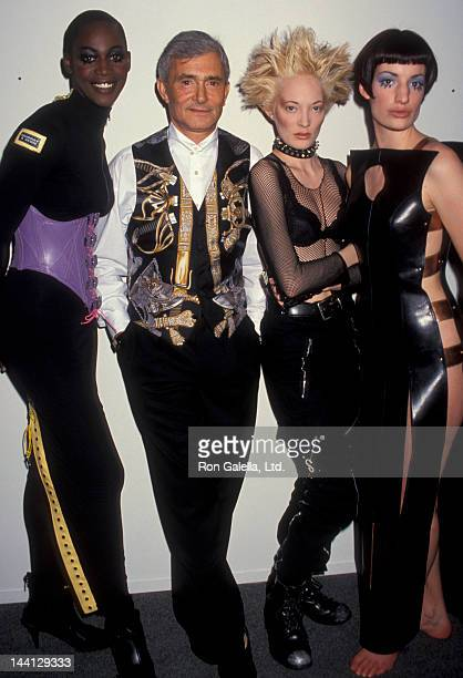 Hair Stylist Vidal Sassoon attending 50th Anniversary Exhibition of Fashion Institute of Technology on February 22 1993 at the Fashion Institute of...