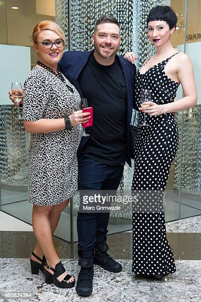 Hair stylists from Oscar Oscar Nikki Gallard and Justin McLachlan and Laura McLachlan at the launch of the Autumn Winter Fashion Designer Showcase at...