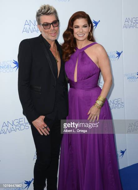 Hair Syylist Chaz Dean and actress Debra Messing arrives for Project Angel Food's 28th Annual Angel Awards held at Project Angel Food on August 18...
