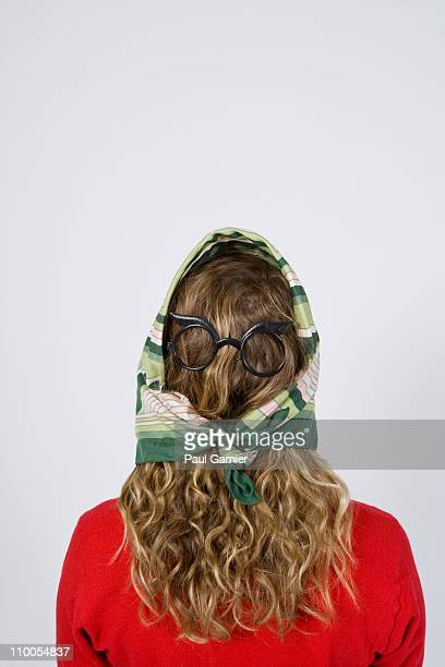 Hair with glasses and scarf
