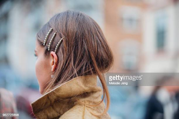 Hairclip details on January 26 2018 in Oslo Norway