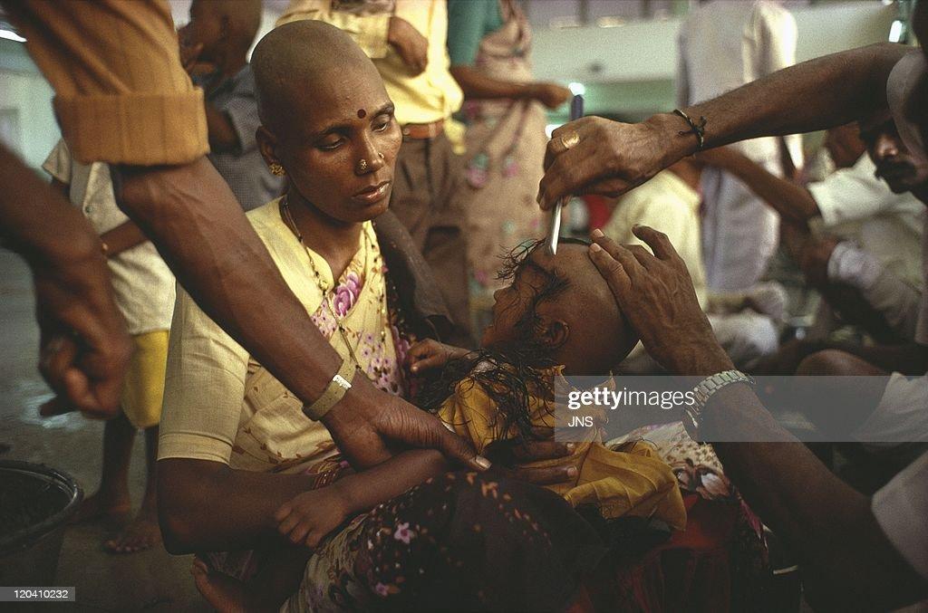 Haircut In Offering To Vishnu In Tirumala Tamil Nadu India The