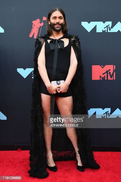 US hairdresser and television personality Jonathan Van Ness arrives for the 2019 MTV Video Music Awards at the Prudential Center in Newark New Jersey...