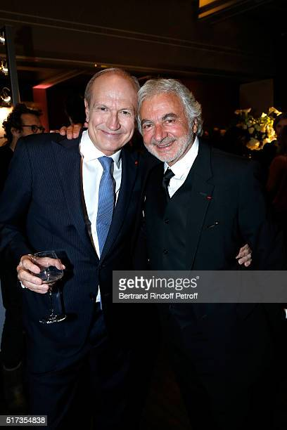 Hairdresser Franck Provost and Chairman Chief Executive Officer of L'Oreal Chairman of the L'Oreal Foundation JeanPaul Agon attend the 'L'OrealUNESCO...