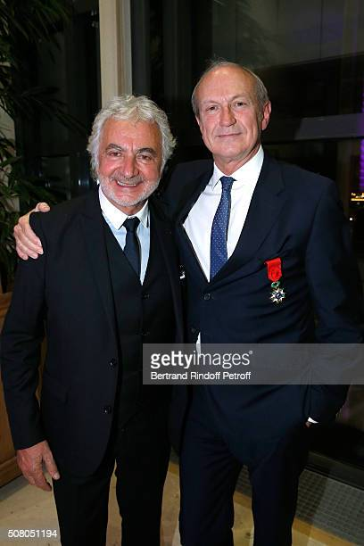 Hairdresser Franck Provost and JeanPaul Agon attend President of l'Oreal JeanPaul Agon receives Insignia of Officer of the Legion of Honor at...