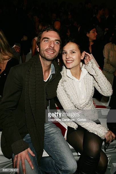 Hairdresser John Nollet and actress Virginie Ledoyen at the Chanel SpringSummer 2005 readytowear fashion collection during the Paris Fashion Week