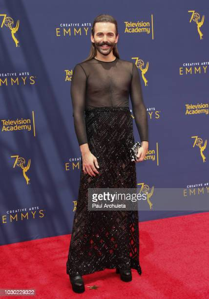 Hairdresser / Reality TV Personality Jonathan Van Ness Jonathan Van Ness attends the 2018 Creative Arts Emmy Awards - Day 2 at the Microsoft Theater...
