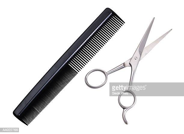 Hairdresser's Scissors and Comb