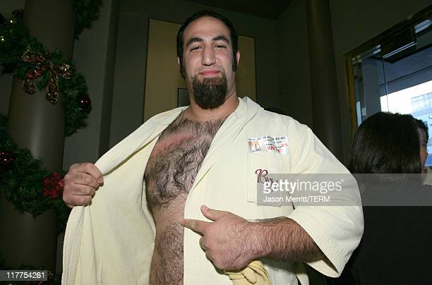 """""""Hairiest Chest Waxing"""" finalist proudly displays his waxed chest at Los Angeles' Burke Williams Spa to celebrate the Unrated Edition DVD release of..."""