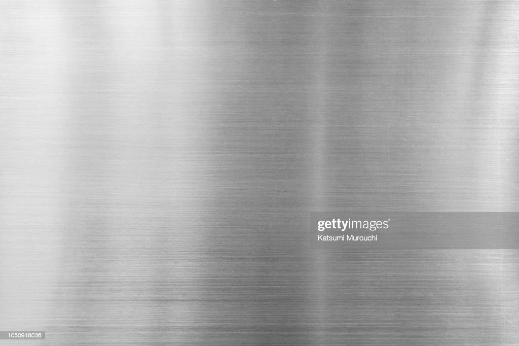 Hairline steel plate texture background : Stock Photo