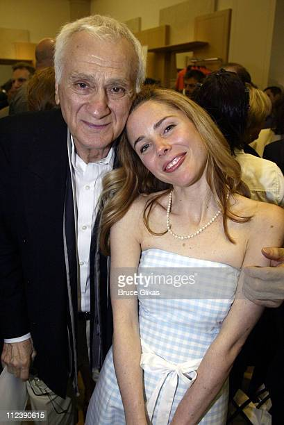 Hairspray nominees Dick Latessa and Kerry Butler during The Official Drama Desk Cocktail Party at St John Boutique in New York City New York United...