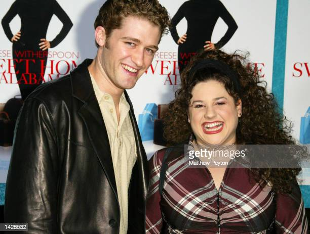 Hairspray stars Matthew Morrison and Marissa Jaret Winokur pose together at the world premiere of Touchstone Pictures' Sweet Home Alabama at the...