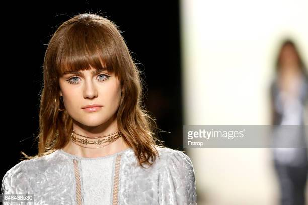 Hairstyle detail at the Tadashi Shoji show during the New York Fashion Week February 2017 collections on February 9 2017 in New York City
