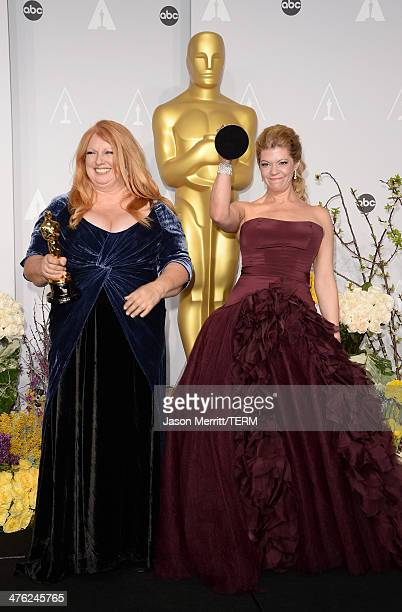 Hairstylist Adruitha Lee winner of Best Achievement in Makeup and Hairstyling and makeup artist Robin Mathews winner of winner of Best Achievement in...