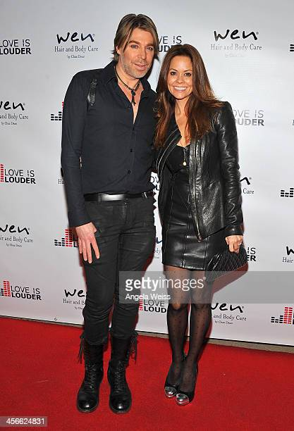 Hairstylist and creator of WEN, Chaz Dean and actress Brooke Burke attend Chaz Dean's Holiday Party benefiting The Love is Louder Movement at a...