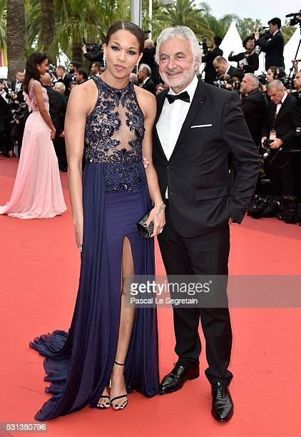 Hairstylist Franck Provost and a guest attend the The BFG Premiere during the annual 69th Cannes Film Festival at the Palais des Festivals on May 14...