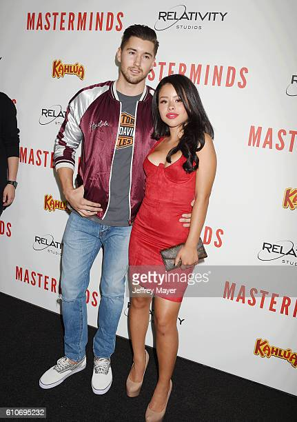 Hairstylist Jeff Wittek and actress/singer Cierra Ramirez attend the premiere of Relativity Media's 'Masterminds' held at TCL Chinese Theatre on...