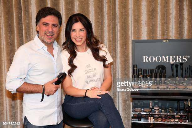 Hairstylist Shan Rahimkan and Alexandra Polzin during the Grand Opening of Roomers Spa by Shan Rahimkhan on May 4, 2018 in Munich, Germany.
