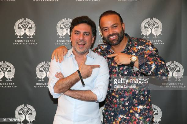 Hairstylist Shan Rahimkan and Bardia Torabi, General Manager Roomers Munich during the Grand Opening of Roomers Spa by Shan Rahimkhan on May 4, 2018...