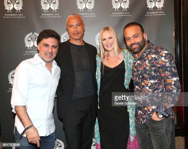 Hairstylist Shan Rahimkan, Jewelry designer Constanze Kponton and her husband Thierry Kponton and Bardia Torabi, General Manager Roomers Munich...