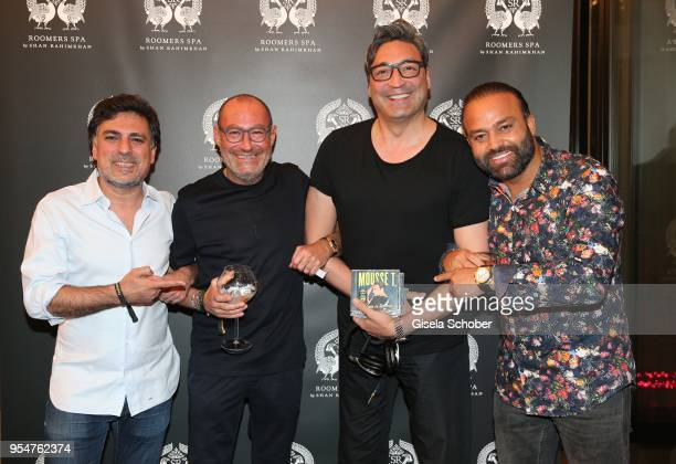 Hairstylist Shan Rahimkan, Micky Rosen, Owner of Gekko Group/Roomers and DJ Mousse T and Bardia Torabi, General Manager Roomers Munich during the...