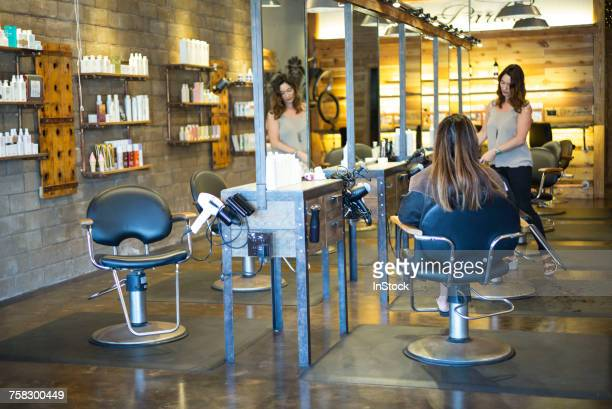 Hairstylist working in salon