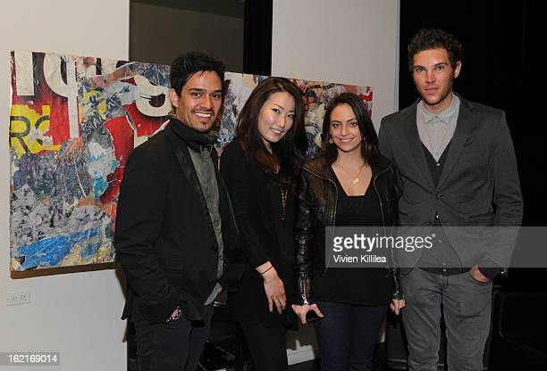 Hairstylists Nathan Vega Sue Yi Salina Alvarado and Michele Finessi of Rossano Ferretti Hairspa attend Art Beauty Oscar Celebration For NYC...