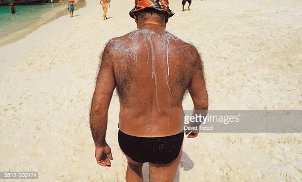 Hairy Backed Man on Beach