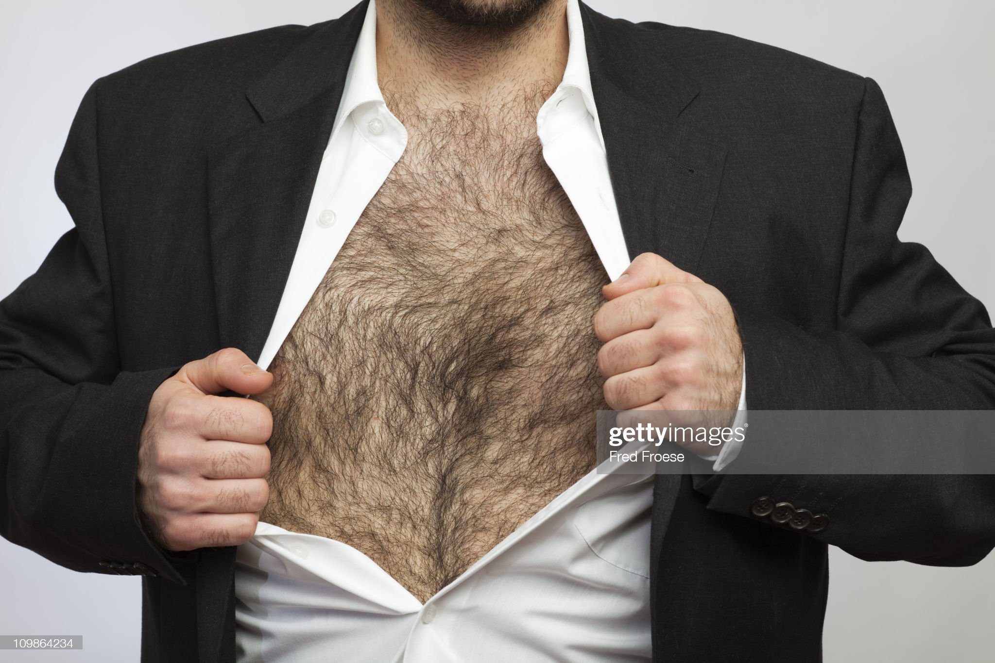 Hairy chested man : Photo