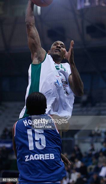Haislip Marcus of of Unicaja in action during the Euroleague Basketball game 9 between Cibona Zagreb v Unicaja at the Basketball Centre Drazen...