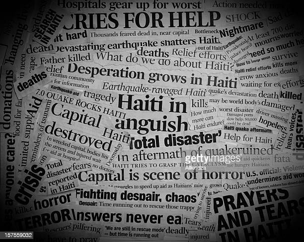 Haiti Earthquake Headlines Collage