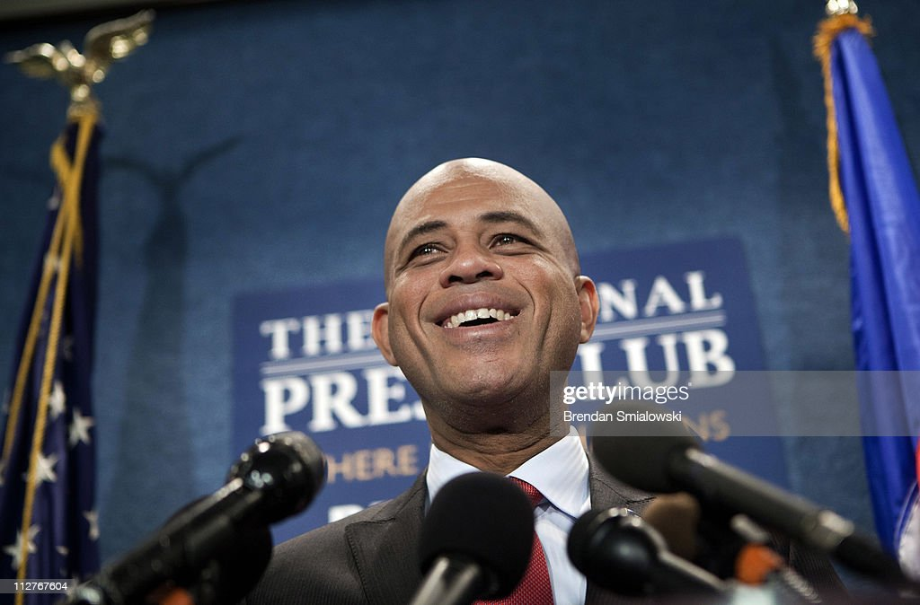 Haiti President-Elect Michel Martelly Holds News Conference In Washington
